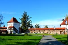 Dentro la fortezza della città Targu-Mures, la Romania Fotografie Stock