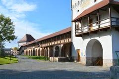 Dentro la fortezza della città Targu-Mures, la Romania Immagine Stock