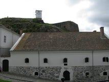 Dentro la fortezza di Fredriksten in Halden, la Norvegia immagine stock libera da diritti