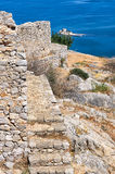 Dentro la fortezza di Palamidi Immagine Stock