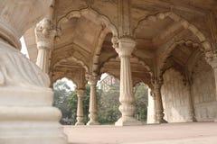 Dentro la fortificazione rossa a Delhi Immagini Stock Libere da Diritti