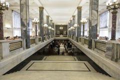 Dentro la più grande biblioteca in Europa, la Russia Immagine Stock