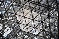 Dentro la torre d'acciaio Fotografia Stock Libera da Diritti