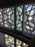 Dentro la torre iconica di Doha immagine stock libera da diritti