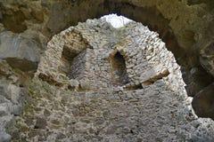 Dentro la torre principale della fortezza medievale di Bologa Immagini Stock