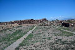 Dentro le pareti nella fortezza di Erebuni, Yerevan Immagine Stock Libera da Diritti
