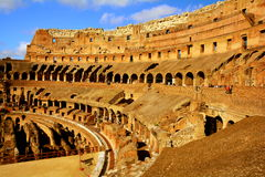 Dentro Roman Colosseum immagine stock