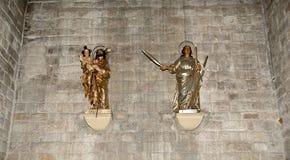 Dentro Santa Maria Del Mar-- è una chiesa imponente nel Ri Immagini Stock Libere da Diritti