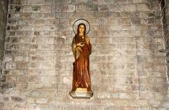 Dentro Santa Maria Del Mar-- è una chiesa imponente nel Ri Immagine Stock