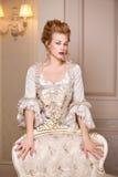 Dentro tiró en el estilo de Marie Antoinette Imagen de archivo