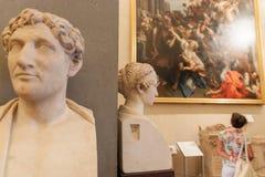 Dentro un museo Immagini Stock