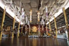 Dentro un tempio buddista Pai, Tailandia Immagini Stock Libere da Diritti