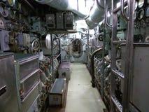 Dentro un vecchio sottomarino fotografia stock libera da diritti