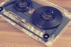 Dentro una cassetta di cassetta audio Immagini Stock Libere da Diritti