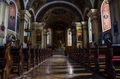 Dentro una chiesa in Austria immagine stock