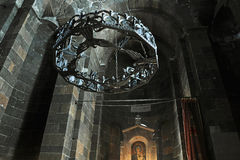 Dentro una chiesa di Hripsime del san in Echmiadzin Fotografie Stock