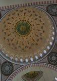 Dentro una cupola della moschea di Suleymaniye a Costantinopoli Fotografie Stock