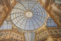 Dentro Vittorio Emanuele Gallery in Milano-Italia Fotografia Stock Libera da Diritti