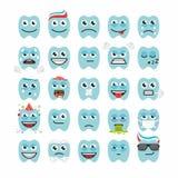 Dents avec différentes émotions Image stock
