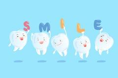 Dents avec les accolades invisibles Images stock