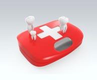dents 3D et kit de premiers secours Photos stock