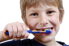 Dents de brossage Photos stock