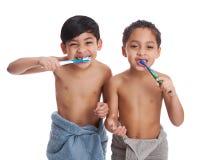 dents de brossage images stock