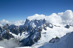 The Dents du Midi in the Swiss Alps. The Dents du Midi, the Swiss Alps Royalty Free Stock Images