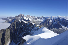 The Dents du Midi in the Swiss Alps Stock Photos