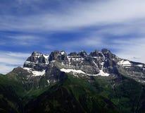 Dents du Midi, Switzerland stock photography