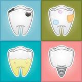 Dents - illustration  Images libres de droits