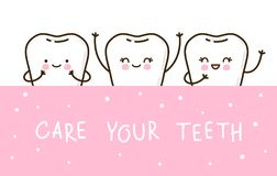 Dents mignonnes pour votre conception illustration de vecteur