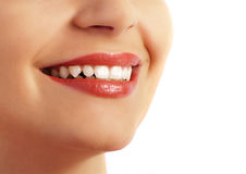 Dents parfaites et sourire Photos libres de droits