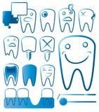 Dents réglées illustration stock