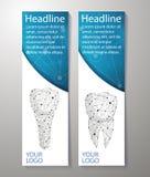Dents saines et implant dentaire Conception de bannières Peut employer pour le marketing illustration de vecteur