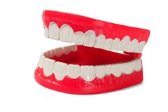Denture on white Royalty Free Stock Images