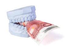 Dentures cost Stock Image