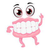 Dentures Mascot Royalty Free Stock Image