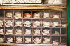 Dentures store, dentures for sale, new and used in Nepal Stock Image