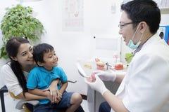 Dentysta i jego pacjent Obraz Stock