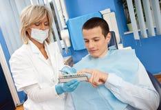 dentysta kobieta męska cierpliwa Zdjęcia Stock
