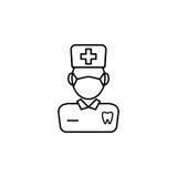Dentysta kreskowa ikona Obraz Stock