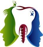 Dentysta pary logo royalty ilustracja