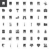 Dentysta wytłacza wzory wektorowe ikony ustawiać ilustracja wektor