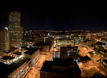 Denver alla notte Immagine Stock