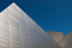 Denver Art Museum. Sharp angles of a modern metal building with blue sky Royalty Free Stock Photo