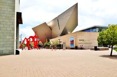 The Denver Art Museum (DAM) in Colorado. DENVER, CO -19 AUGUST 2013- The Denver Art Museum (DAM), located in the Civic Center, is famous for its collection of Royalty Free Stock Image