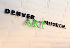 Denver Art Museum in Denver Colorado Lizenzfreie Stockfotos
