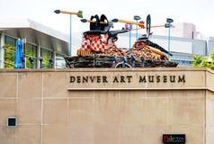 Denver Art Museum (FÖRDÄMNING) i Colorado Arkivfoton