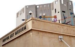 Denver Art Museum (FÖRDÄMNING) i Colorado Royaltyfri Foto
